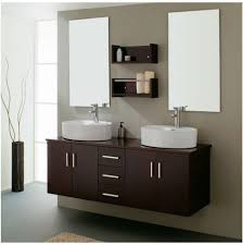 bathroom 2017 espresso wooden vanity white sinks modern home