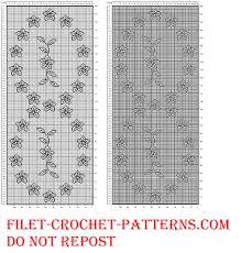 Crochet Table Runner Pattern Filet Crochet Table Runner With Flowers Free Pattern Free Filet
