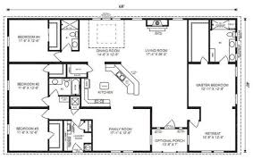 amazing chic 3 simple rectangular 4 bedroom house plans ranch