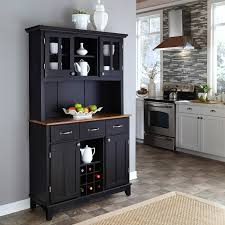 home styles large wood bakers rack with two door hutch walmart com