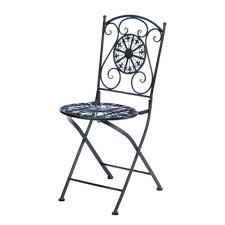 Cast Iron Bistro Chairs Cast Iron Patio Bistro Chair Round Seat With Fleur De Lis Design