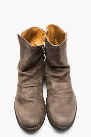 s boots taupe fiorentini baker taupe nubuck notched eternity boots in