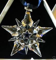 2001 swarovski snowflake annual ornament large