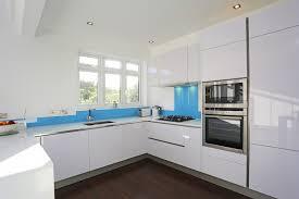 high gloss white kitchen cabinets gloss kitchen cabinets new high gloss white kitchen with a blue