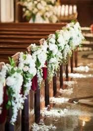 wedding flowers church creative church wedding decorations roses turquoise and pew