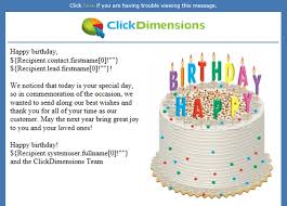 creating automated and personalized birthday emails canal