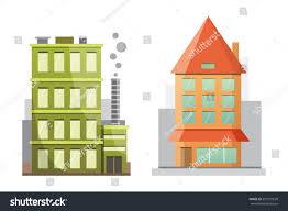 House Flat Design by Flat Design Retro Modern City Houses Stock Vector 591075629