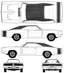 Dodge Challenger Drawing - 1968 dodge charger rt 426 hemi taillight 1969 dodge charger coupe