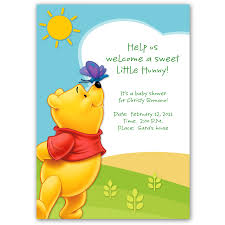 winnie the pooh baby shower invitation cards tags winnie the