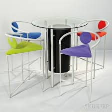 high table with four chairs memphis style high table and four chairs sale number 2912m lot