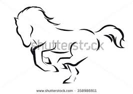 horse outline stock images royalty free images u0026 vectors