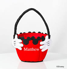 personalized mickey mouse easter basket mickey mouse bag 1 yr mickey mouse