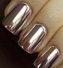 rose pink gold mirror chrome nail effect powder not polish same