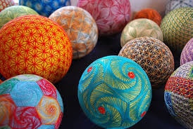 temari balls mixing mathematics with beautiful