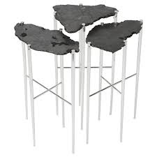 meteorite cocktail tables in solid brass or copper by christopher
