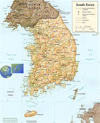 Map Of South Map Of South Korea South Korea Travel Map South Korea Political Map