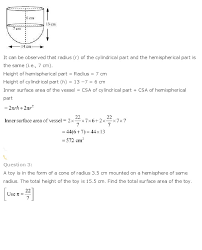 ncert solutions for class 10th maths chapter 13 u2013 surface areas