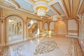 house polished marble floor tiles for luxury home architecture