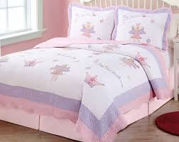 girls pink purple fairy princess garden full queen quilt 2 shams