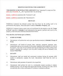 roofing contract template 9 download free documents in pdf