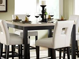 amazon counter height table amazon com counter height table in faux marble top of archstone