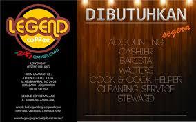 Legend Coffee Malang lowongan malang on rt legendjogja lowker legendmalang