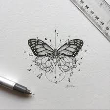 geometric beast butterfly i want this as a tattoo symbolizes