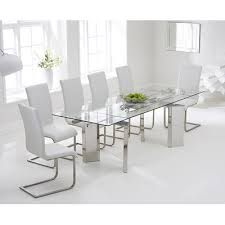 Glass Extendable Dining Table And 6 Chairs Found It At Wayfair Co Uk Extendable Dining Table And 6