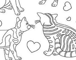cat coloring sheets etsy