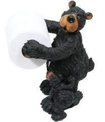 amazon com willie black bear with cub free standing toilet paper