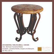 Small Round Tables by 040 Occasional Side Round Small Table Iron Base Chocolate Finish