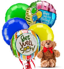get well soon balloons same day delivery get well balloons 5 mylar balloons send