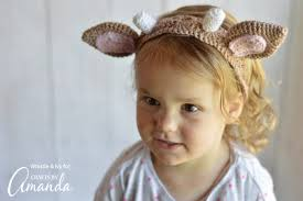 crochet headbands crochet headbands adorable woodland animal ear headband pattern