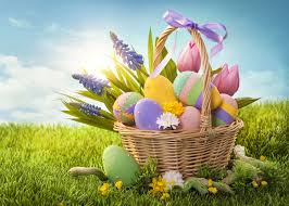 easter basket grass easter basket on green grass jigsaw puzzle puzzlemobi