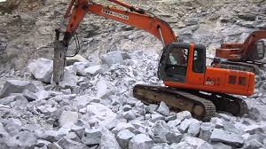 tata hitachi zaxis 210 lch with daemo dmb 210 rock breaker youtube