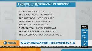 you can celebrate american thanksgiving in toronto