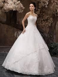 milanoo robe de mari e robe de mariée fabuleuse boule en tulle blanc avec perles