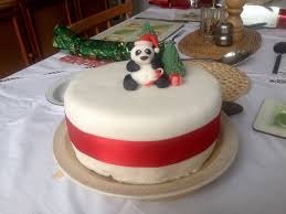fondant icing christmas cake decorating of party