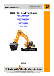 jcb js330 auto tier3 tracked excavator service repair manual sn124050 u2026