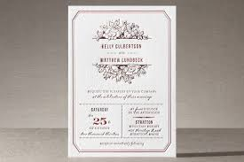 letterpress invitations harvest floral letterpress wedding invitations by paper dahlia