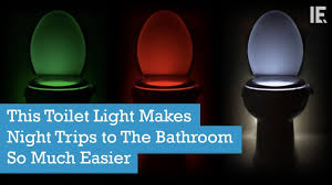 toilet light this toilet light makes night trips to the bathroom so much easier