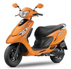 Orange Color by Tvs Scooty Zest 110 Colors Yellow Red Black Blue Pink