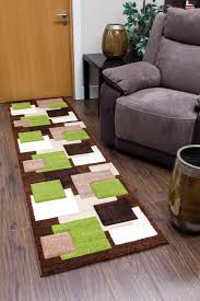 Green Modern Rug Tempo Square Rug Brown Beige Green