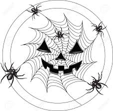 terrible spiders in creep on a web royalty free cliparts vectors