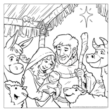 nativity color page jesus in the manger coloring pages nativity