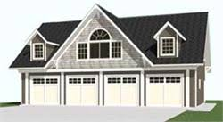 Four Car Garage Plans Carriage House 4 Car Garage Plans With Loft 2402 1 By Behm Design