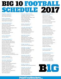 2017 big 10 conference football schedule printable college