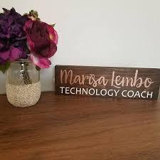 custom office desk signs personalized desk name plate teacher desk sign wood teacher name