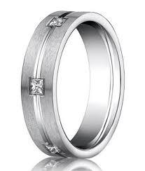 benchmark wedding bands mens diamond rings satin finish with polished center