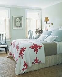 Guest Bedroom Bedding - beautiful red floral bedding cover for white guest room part of